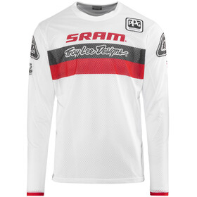 Troy Lee Designs Sprint Air SRAM TLD Fietsshirt lange mouwen Heren Racing rood/wit